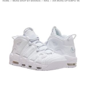 Nike Shoes - Nike Air More Uptempo Triple White sneakers